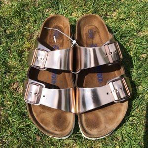 BIRKENSTOCK 🔴Metallic soft footbed Arizona Sandal